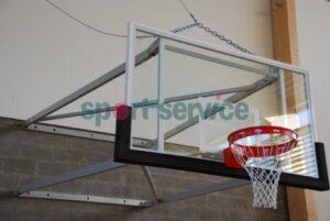 Seinale kinnitatav tõstetav korvpallikonstruktsioon