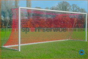 Jalgpallivärav 7,32x2,44m, vabaltseisvad, keevitatud nurkadega