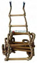 Gymnastic ropes, rings, rope ledders