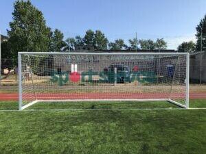Jalgpallivärav 7,32x2,44m Vabaltseisvad alumiinium