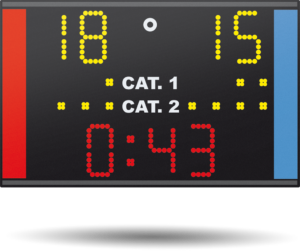 Combat Sport Scoreboard Karate